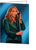Singer Songwriter Greeting Cards - Anouk Greeting Card by Paul Meijering
