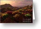 Caputo Greeting Cards - Autumn In New England Greeting Card by Roseann Caputo