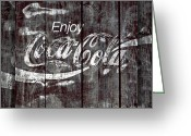 Stephens Greeting Cards - Coca Cola Sign Greeting Card by John Stephens
