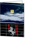 2011 Greeting Cards - Ferrari Hood Emblem Greeting Card by Jill Reger