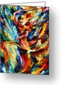 Leonid Afremov Greeting Cards - Flamenco Greeting Card by Leonid Afremov
