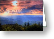 Smoky Mountains Greeting Cards - Great Smoky Mountains  Greeting Card by Douglas McPherson