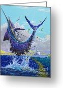 Miami Painting Greeting Cards - Hooked Up Greeting Card by Carey Chen
