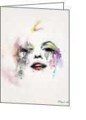 Legends Greeting Cards - Marilyn Monroe Greeting Card by Mark Ashkenazi