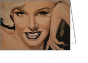 Starlet Greeting Cards - Marilyn Monroe Greeting Card by Shirl Theis