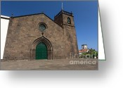 Gaspar Avila Greeting Cards - Sao Miguel Arcanjo church Greeting Card by Gaspar Avila