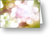 Bright Lights Greeting Cards - Abstract background Greeting Card by Les Cunliffe
