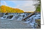 Ebb And Flow Greeting Cards - Berea Falls Greeting Card by Robert Harmon