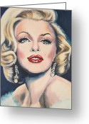 Mink Greeting Cards - Marilyn Monroe Greeting Card by Shirl Theis