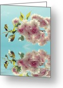 Blossom Greeting Cards - Pink Greeting Card by Kristin Kreet