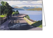 Scottish Art Greeting Cards - The coastal road Greeting Card by Malcolm Warrilow