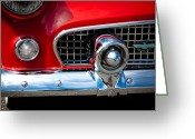 Mascots Greeting Cards - 55 Ford Thunderbird Greeting Card by David Patterson