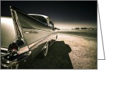 Phil Motography Clark Photo Greeting Cards - 57 Chevrolet Bel Air Greeting Card by motography aka Phil Clark