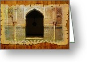 Rabat Painting Greeting Cards - Medina of Faz Greeting Card by Catf