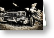 Phil Motography Clark Photo Greeting Cards - 65 Chev Impala Greeting Card by motography aka Phil Clark
