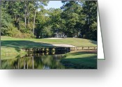 Sand Traps Greeting Cards - 6th Hole at Litchfield CC Greeting Card by Ed Gleichman