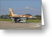 Featured Greeting Cards - An F-16c Barak Of The Israeli Air Force Greeting Card by Ofer Zidon