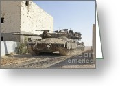 Featured Greeting Cards - An Israel Defense Force Merkava Mark Ii Greeting Card by Ofer Zidon