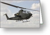 Featured Greeting Cards - An Ah-1s Tzefa Attack Helicopter Greeting Card by Ofer Zidon