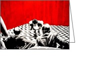 Twin Peaks Greeting Cards - Black Lodge Greeting Card by Luis Ludzska