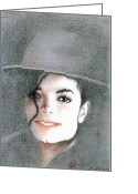 Michael Jackson Greeting Cards - Michael Jackson Greeting Card by Eliza Lo