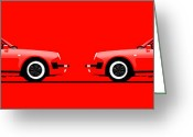 Vintage 1985 Greeting Cards - 911 Convertible open and closed Greeting Card by Niels van Roij