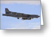 Featured Greeting Cards - A Boeing B-52h Stratofortress Prepares Greeting Card by Remo Guidi