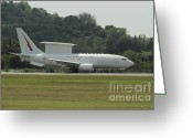 Featured Greeting Cards - A Boeing E-7a Wedgetail Of The Royal Greeting Card by Remo Guidi