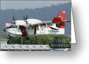 Featured Greeting Cards - A Bombardier Aerospace Cl-415 Mp Greeting Card by Remo Guidi