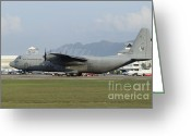 Featured Greeting Cards - A C-130j Hercules Of The Royal Greeting Card by Remo Guidi
