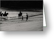 Riders Greeting Cards - A Day at the Beach V2 Greeting Card by Douglas Barnard