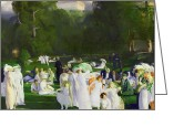 Featured Greeting Cards - A Day in June Greeting Card by George Wesley Bellows