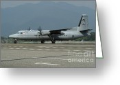 Featured Greeting Cards - A Fokker F-27 Friendship Greeting Card by Remo Guidi