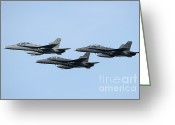 Featured Greeting Cards - A Group Of Fa-18 Hornets Of The Royal Greeting Card by Remo Guidi
