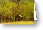 Old Out Houses Greeting Cards - A Lincoln City Outhouse Greeting Card by Jeff  Swan