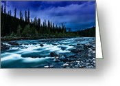 May 24 Greeting Cards - A River at Dusk Greeting Card by Drew May