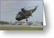 Featured Greeting Cards - A Sikorsky S-61a4 Helicopter Greeting Card by Remo Guidi