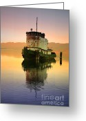 Tara Turner Greeting Cards - A Spring Evening at the Lake Greeting Card by Tara Turner