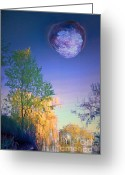 Tara Turner Greeting Cards - A Stone Moon Greeting Card by Tara Turner
