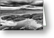 The Classic Greeting Cards - A storm brewing Greeting Card by John Farnan