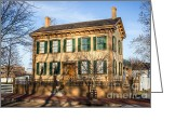 Historic Site Greeting Cards - Abraham Lincoln Home in Springfield Illinois Greeting Card by Paul Velgos