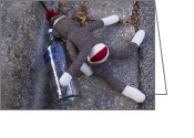 Most Photo Greeting Cards - Absolut Sock Monkey Greeting Card by William Patrick