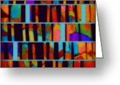 Ann Powell Greeting Cards - abstract - art- Color Pop  Greeting Card by Ann Powell