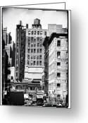 John Rizzuto Greeting Cards - Across Canal St 1990s Greeting Card by John Rizzuto