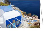 Veranda Greeting Cards - Aegean and Small villas Greeting Card by Aiolos Greece Collection