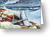 Storm Prints Painting Greeting Cards - After the Hurricane Greeting Card by Pg Reproductions