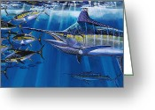 Marlin Azul Greeting Cards - Agressor Greeting Card by Carey Chen