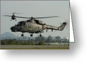Featured Greeting Cards - Agustawestland Lynx Helicopters Greeting Card by Remo Guidi
