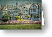 Residential Greeting Cards - Alamo Square Greeting Card by Erik Brede