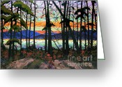 Michael Jackson Greeting Cards - Algoma Sunset Greeting Card by Michael Swanson